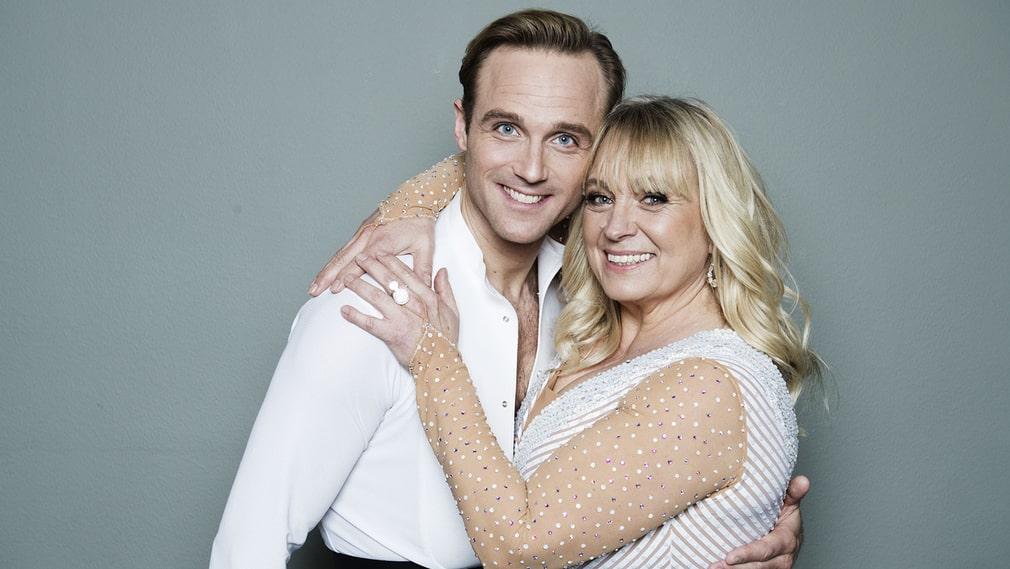 """Sussie Eriksson är klar för final i"""" Let's Dance"""" tillsammans med Calle Sterner."""