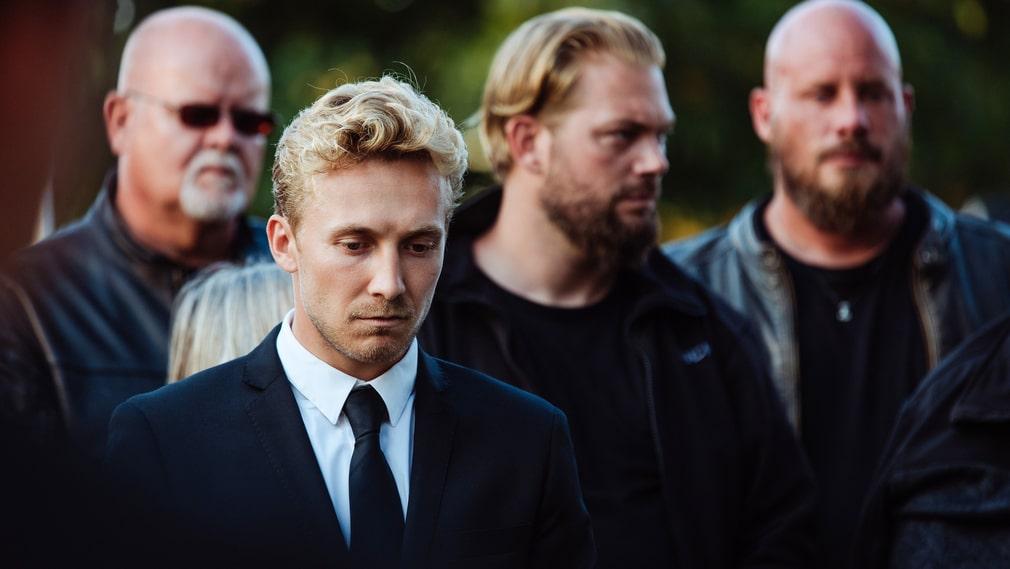 """Andreas Jessen, längst fram, i """"Blodsbröder""""."""