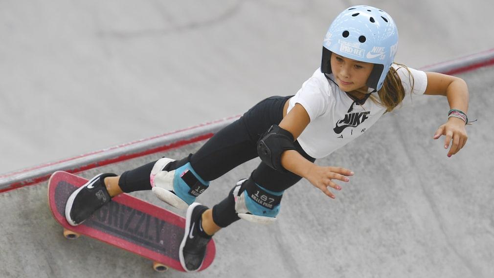 Sky Brown skadades allvarligt efter ett fall. Här i juli 2019 på tävling i Nanjing.
