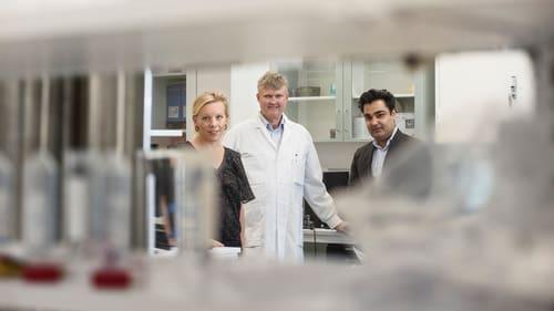 Maria Rankka, Ola Winqvist och Ahsan Amjad, tre av de fem grundarna av ABC Labs, fick idén att starta ett privat viruslabb i mars. Nu är man uppe i 250 000 coronatester.