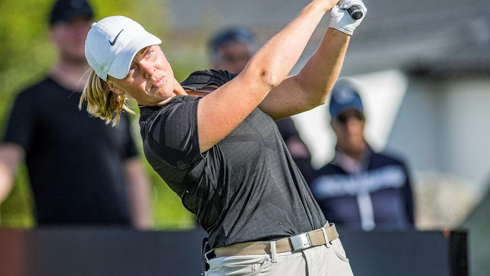 Maja Stark under Creekhouse Ladies Open på Kristianstads GK i Åhus.