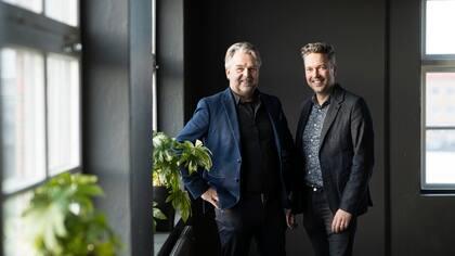 Creative Houses två medgrundare Jörgen Vegraeus och Fredric Öjebrandt.