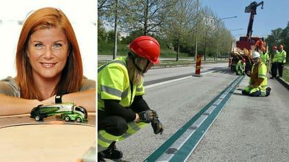 Karin Ebbinghaus är vd på Elonroad som bygger elväg i Lund.