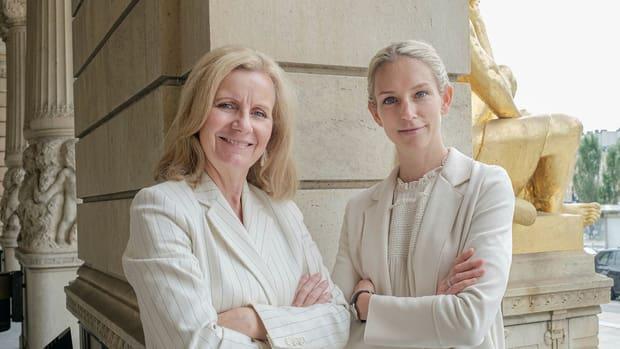 Anna Nordell-Westling, medgrundare till Sana Labs med sin mentor Helene Barnekow, vd på Microsoft Sverige. Anna är den nya deltagare i Prins Daniels Fellowship mentorsprogram.
