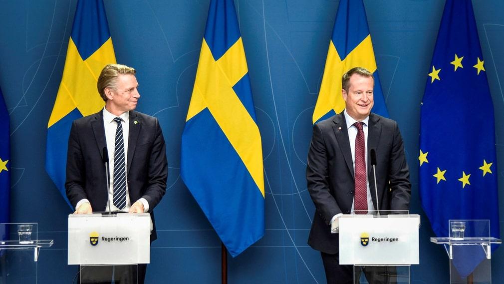 Per Bolund (MP) och Anders Ygeman (S).